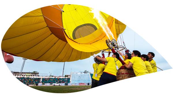 faire envoler une montgolfière