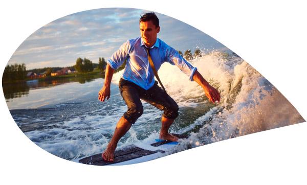 surfer en chemise